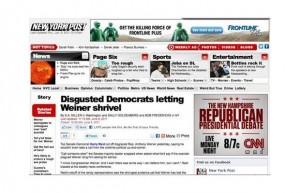 Disgusted Democrats letting weiner shrivel